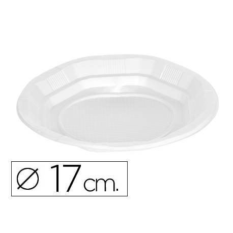 Plato de plastico 17cm blanco