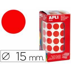 Gomets Apli circulares rojos 15mm