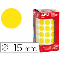 Gomets Apli circulares amarillos 15mm
