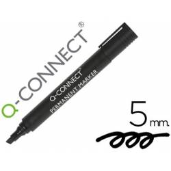 Rotulador permanente Q-Connect negro 5mm