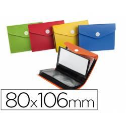 Carpeta Liderpapel clasificador de tarjetas plastico 80x106 mm