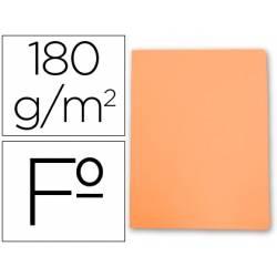 Subcarpetas cartulina Gio folio naranja pastel 180 g/m2