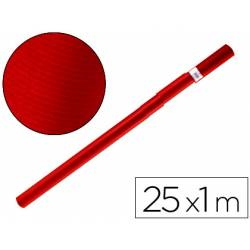 Bobina papel kraft Liderpapel 25 x 1 m rojo cherry