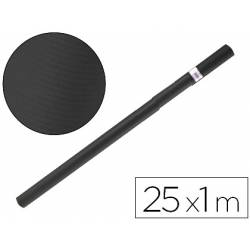 Bobina papel kraft Liderpapel 25 x 1 m negro