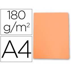Subcarpeta cartulina Gio Din A4 naranja pastel 180 g/m2