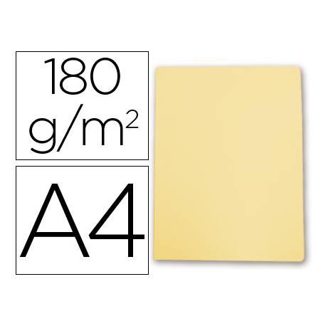 Subcarpeta cartulina Gio Din A4 amarillo pastel 180 g/m2