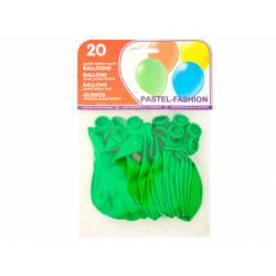 Globos redondos hinchables verde
