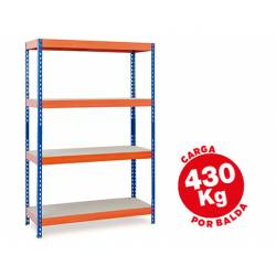 Estantería AR Storage metálica 4 estantes 430 kg