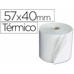 Rollo Termico para Sumadoras 57x40x11mm 58g/m2 Mandril 12mm