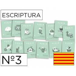Cuaderno Rubio Escriptura nº 3 Minúsculas, dibujos, números y grecas Catalán