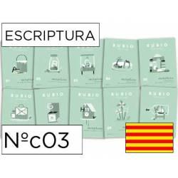 Cuaderno Rubio Escriptura nº 03 Abecedario, frases y números Catalán
