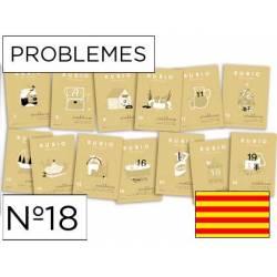 Cuaderno Rubio Problemes nº 18 Sumar, restar, multiplicar y dividir por varias cifras Catalán