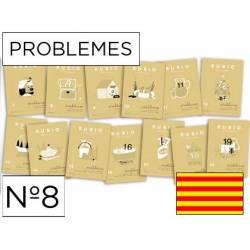 Cuaderno Rubio Problemes nº 8 Sumar llevando y restar sin llevar Catalán
