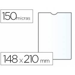 Funda portadocumento Q-connect din A5 150 micras pvc transparente con uñero
