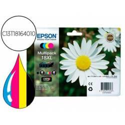 Cartucho Epson C13T18164010 colores negro amarillo cian y magenta XL. Epson 18xl