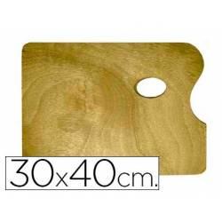 Paleta madera Artist rectangular tamaño 30x40x0,05 cm
