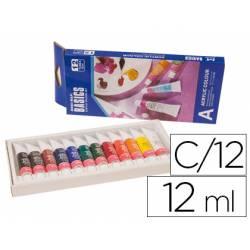 Pintura acrilica Artist 12 colores surtidos