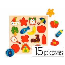 Puzzle a paritr de 1 año Siluetas Objetos marca Diset