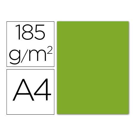 Cartulina Guarro din A4 verde manzana 185 gr paquete 50 hojas