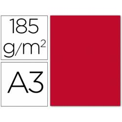Cartulina Guarro rojo 185g/m². Paquete de 50 unidades.