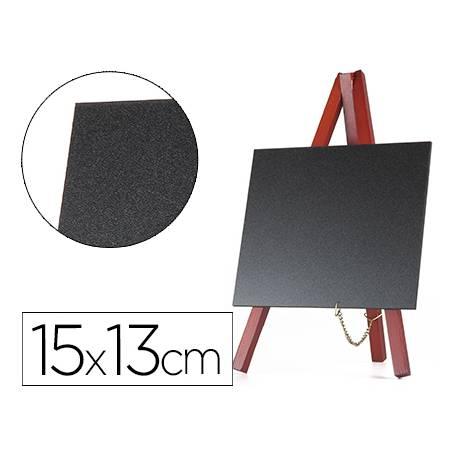 Juego 3 pizarras Liderpapel caballete negra 15x13 cm