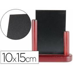 Pizarra sobremesa Liderpapel negra doble cara de madera 10x15 cm