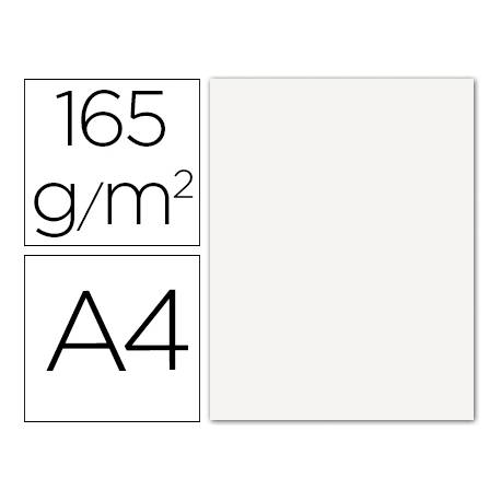 Papel color Liderpapel blanco A4 165g/m2 9 hojas