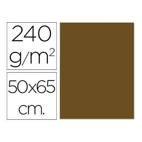 Cartulina Liderpapel marron 50x65 cm 240g/m2