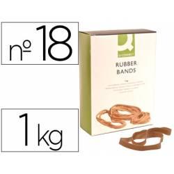 Bandas elasticas Q-connect 1000 gr 180 x 16 mm numero 18