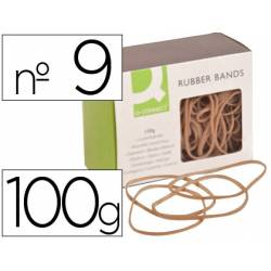 Gomillas elasticas Q-connect 100 gr numero 9