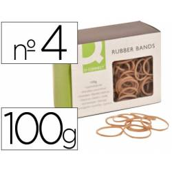 Gomillas elasticas Q-connect 100 gr numero 4