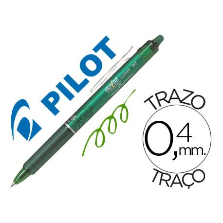Boligrafo Borrable Pilot Frixion retractil 0,4 mm Color Verde