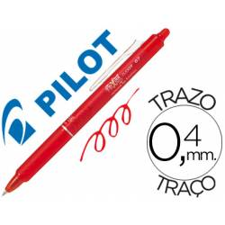 Boligrafo Borrable Pilot Frixion retractil 0,4 mm Color Rojo