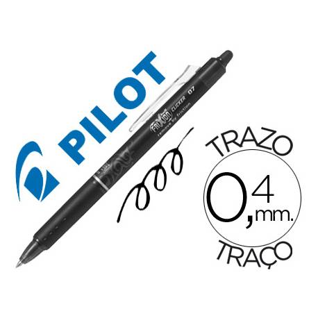 Boligrafo Borrable Pilot Frixion retractil 0,4 mm Color Negro