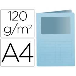 Subcarpeta cartulina Q-Connect Din A4 azul