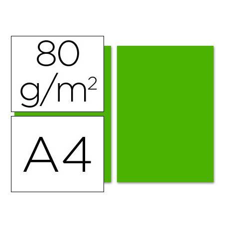 Papel color Liderpapel verde intenso a4 80 g/m2 100 hojas