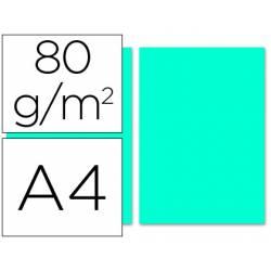 Papel color Liderpapel turquesa A4 80 g/m2 100 hojas