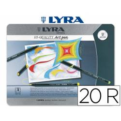 Rotuladores Lyra Art Pen punta fina caja de 20 unidades