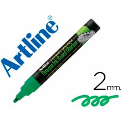 Rotulador Artline EPW-4 Marcador tipo tiza Color Verde bolsa de 4 rotuladores