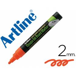 Rotulador Artline EPW-4 Marcador tipo tiza Color naranja bolsa 4 rotuladores