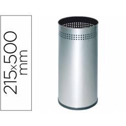 Paraguero metalico Sie 314 perforado plateado 50x21,5 cm