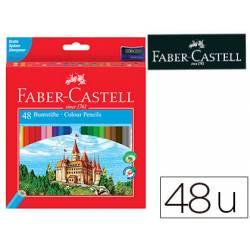Lapices de colores Faber-Castell hexagonal caja de 48 unidades + sacapuntas