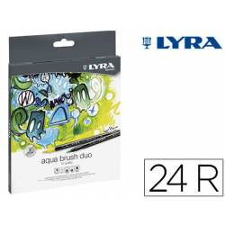 Rotulador Lyra Duo Art Pen doble punta fina y gruesa caja de 24 unidades