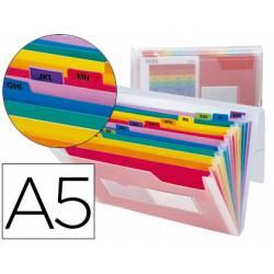 Carpeta Beautone clasificadora con fuelle polipropileno Din-A5 Spectrafile