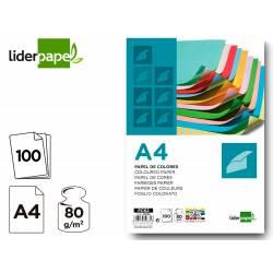 Papel color Liderpapel A4 80 g/m2 pack 100 hojas 25 Colores Surtidos