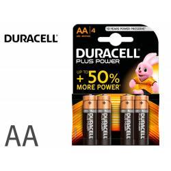 Pilas marca Duracell alcalina plus AA -blister con 4 pilas