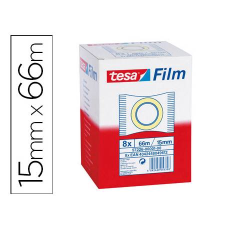 Cinta adhesiva Tesa estandar 66 mt x 15 mm