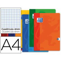 Libreta escolar Oxford Din A4 cuadricula 4 mm