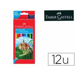Lapices de colores Faber-Castell hexagonal caja de 12 unidades + sacapuntas