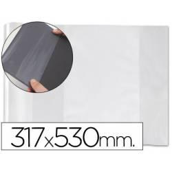Forralibro PVC con solapa ajustable Medidas 317 x 530 mm